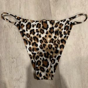 Zaful Swim - Zaful Leopard Print String Thong Bikini Set